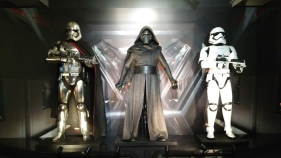 From left: Captain Phasma, Kylo Ren & First Order Stormtrooper